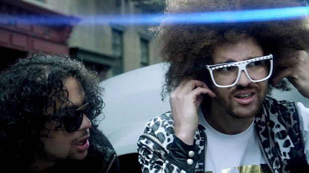 Track by US act LMFAO (pictured) beat best-sellers by Adele and Maroon 5 to top Apple's year-end download chart.