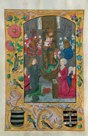 A page from the Latin Book of Hours, which belonged to Nicolas von Firmian.