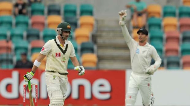 One more time … Phillip Hughes was again caught in the slip cordon yesterday.