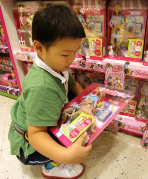 These Mattel toys were recalled in the US over safety concerns in 2007 but were still being sold in China.