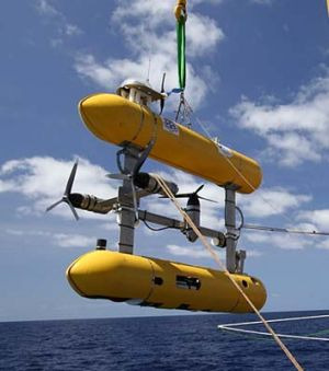 Beneath the waves … the AUV Sirius has gone missing off Moreton Island.