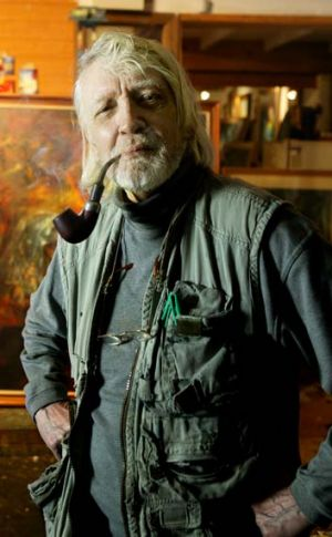 Member of the ''Antipodean'' group … David Boyd in the studio of his St Peters home.