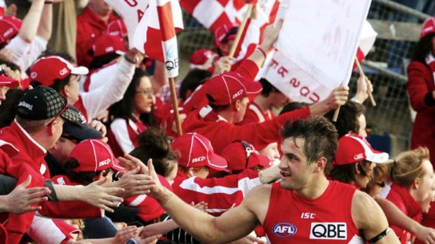 Support ... the Swans have arrested the slide in memberships, which has helped their bottom line.