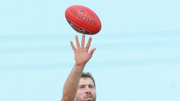 Plucked ruck: Orren Stephenson playing in the VFL.
