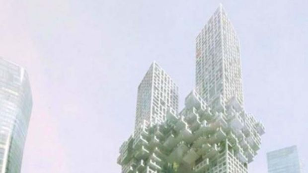 Controversial design ... developer stays firm on 'Twin Towers' despite fierce objection from the US and 9/11 victims.