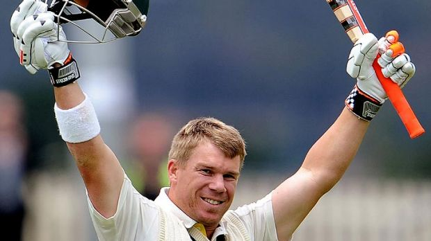Winners are grinners ... David Warner.
