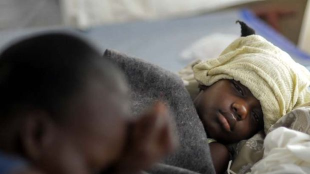 Continuing heartache ... Haitians are still suffering after last year's earthquake.