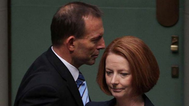 Pay rises ... Julia Gillard's salary will increase to $481,000, while Tony Abbott's will jump to $342,250.