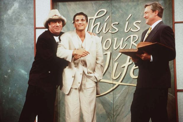 Molly Meldrum and Peter Andre appear on 'This is Your Life'.