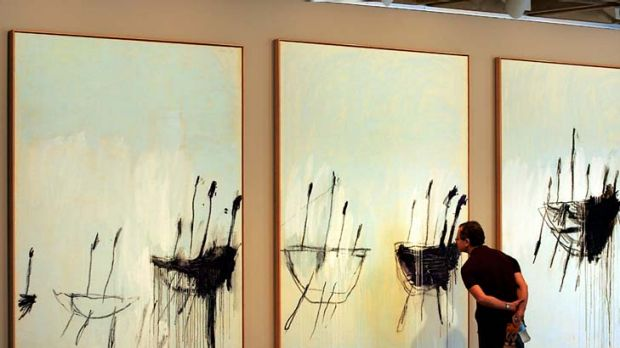 Collection and scholarship ... Cy Twonbly's <em>Three Studies from the Temeraire</em>, bought by the AGNSW in 2004 for ...