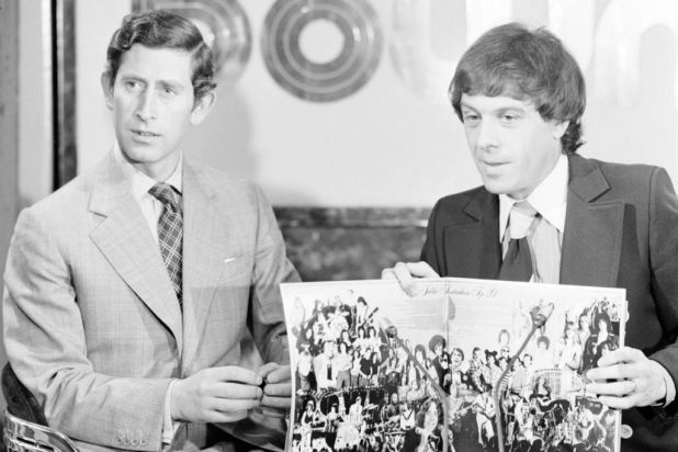 Prince Charles with Ian 'Molly' Meldrum on Countdown.