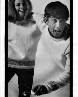 Catalogue shots of a young Molly Meldrum from Paton's pattern book.