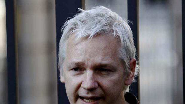 Friends in high places ... WikiLeaks founder Julian Assange.