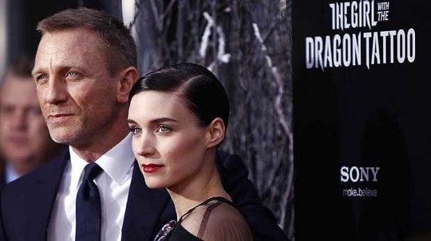 Girl with the Dragon Tattoo ... Daniel Craig and Rooney Mara star in the film.