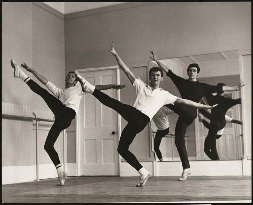Colin Peasley, Kelvin Coe and Barry Moreland rehearsing in the East Melbourne studios in 1964.