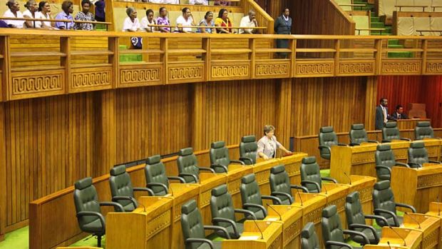 Dame Carol Kidu, Papua New Guinea's only female MP, cut a lonely figure in parliament today.