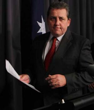 Central figure ... Chris Evans softened the Howard government's policy in 2008.