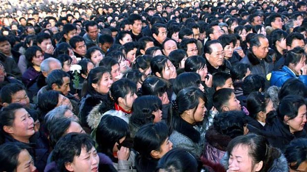 People mourn the death of the North Korean leader Kim Jong-Il.