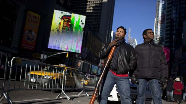 Star performers … Nathan Mundraby, left, who plays the didgeridoo, and Clifton Bieundurry, who sings, are proud to ...