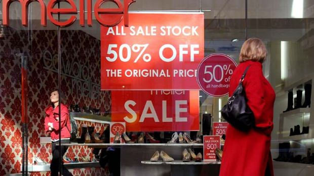 Down, down, down ... heavy discounts are being used to entice shoppers.