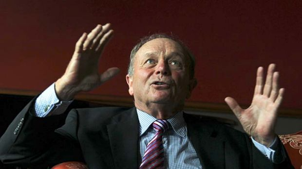 Raking them in . . . Gerry Harvey buys more than half a million shares in Harvey Norman.