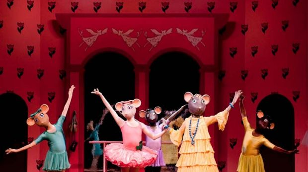 Thrill and tragedy … Angelina the dancing mouse, centre in pink, is back for the Big Audition.
