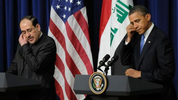 Iraq's Prime Minister Nuri al-Maliki and US President Barack Obama.