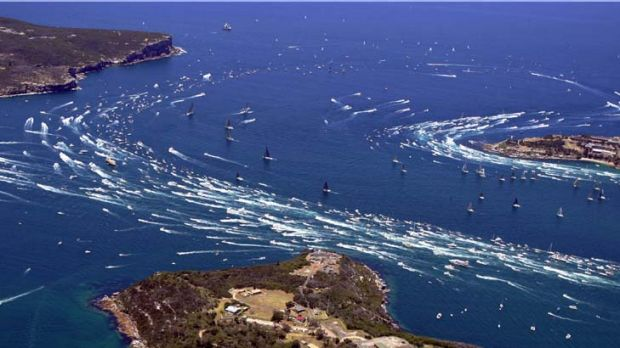 Rain affected ... numbers watching the start of the Sydney to Hobart yacht race could be down if the wet weather continues.