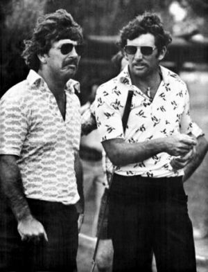 Rod Marsh and Ian Chappell in 1976.