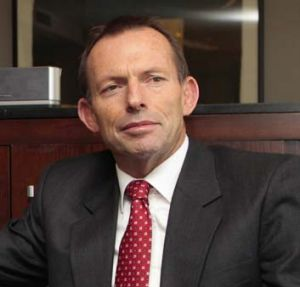 Standing firm ... Tony Abbott.