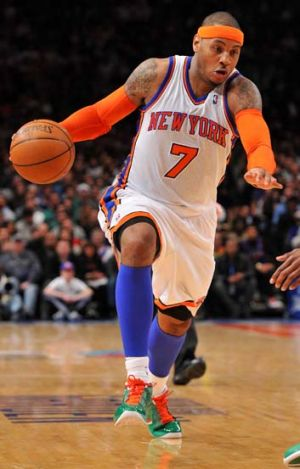 Carmelo Anthony at Madison Square Garden.