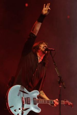The Foo Fighters' Dave Grohl at AAMI Park.