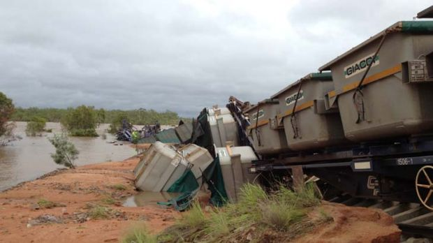 Diluted concentrate: The train that derailed on Tuesday was carrying copper concentrate owned by OZ Minerals.