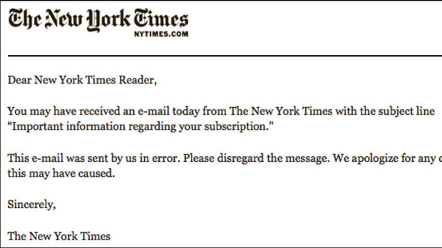 The apology email.