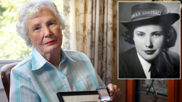 """""""Forgotten army"""" ... Joan Turnour with the certificate and medal sent from the British government, and as a young ..."""