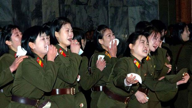 North Korean soldiers cry for late North Korean leader Kim Jong Il. But why?