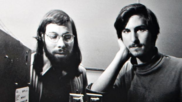 The late Steve Jobs (right), with Apple co-founder Steve Wozniak in days gone by.