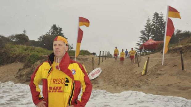 ''We're a bunch of lifesavers who can't get onto our beach''  ...  Taree Old Bar Surf Club's president Andrew Jones ...
