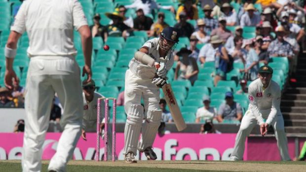 First blood ... Gautam Gambhir is out on the third ball of the day.