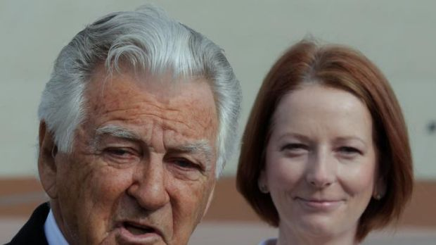 Julia Gillard responded to Mr Hawke by defending the unions as champions of 'working Australians'.