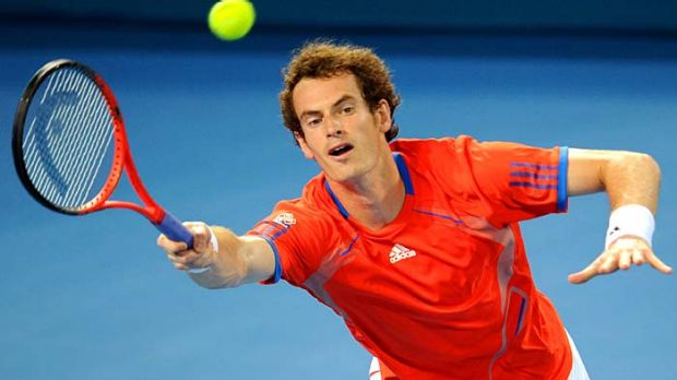 Tough fight: Andy Murray was placed under intense pressure by Mikhail Kukushkin in Brisbane last night.