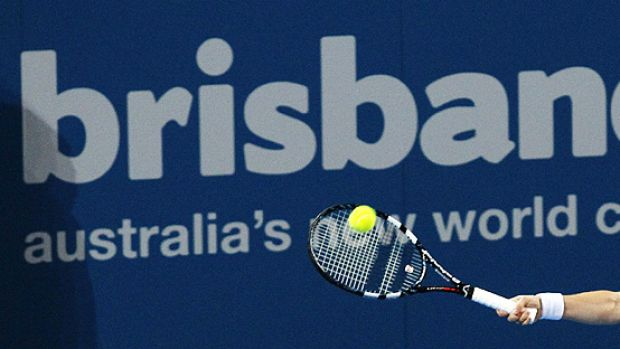 Kim Clijsters of Belgium playing at the Brisbane International in Tennyson this week.