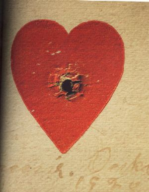 The heart used by Annie Oakley for target practice.