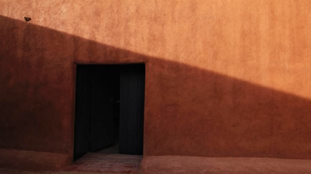 Naked eye ... Leibovitz's pared-back images include a door in Georgia O'Keeffe's home.