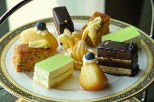 Afternoon tea at Sofi's Lounge includes an array of cakes ...