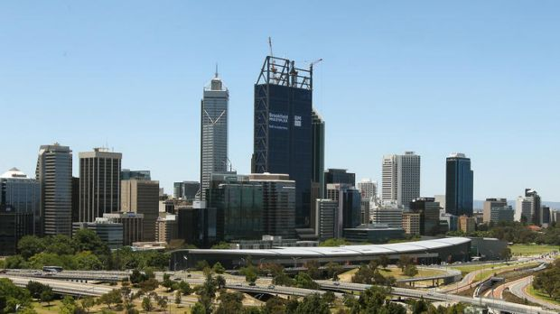 Boomtown: The Perth skyline has rarely been without cranes at work in recent years.