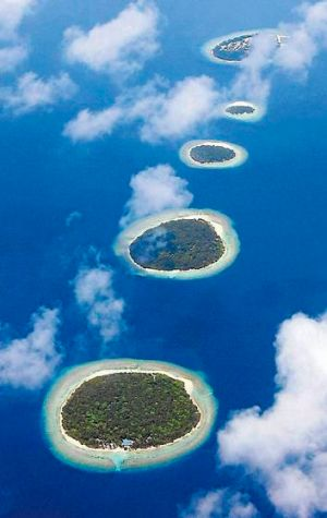 Fourteen islands have already been abandoned.