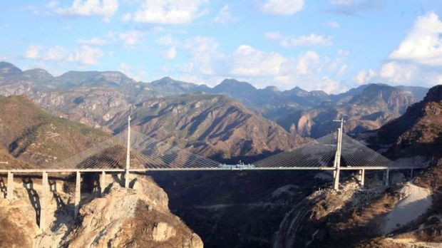 The Baluarte Bridge is officially the highest suspension bridge in the world.