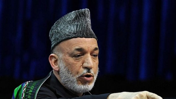 Afghan President Hamid Karzai, angry after being sidelined during recent peace talks.