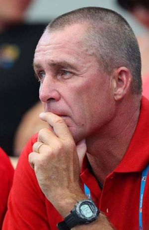 On board: Ivan Lendl watches Andy Murray.
